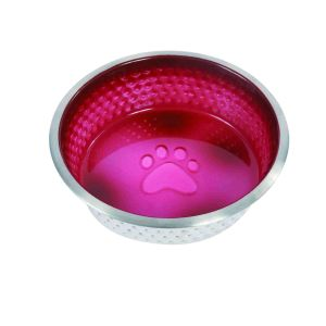 WeatherBeeta Non-Slip Stainless Steel Shade Dog Bowl