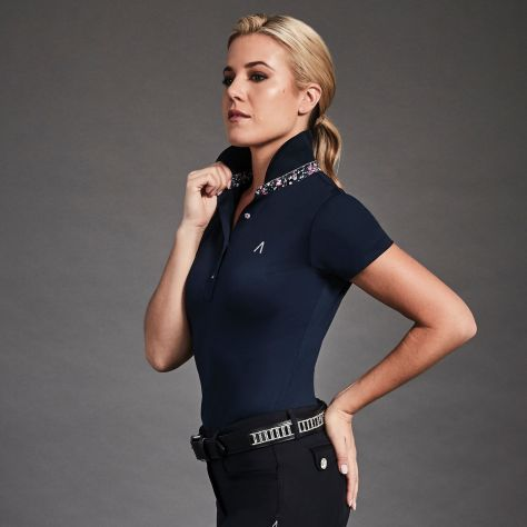 Dublin Black Karina Short Sleeve Technical Polo