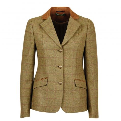 Dublin Albany Tweed Suede Collar Tailored Jacket