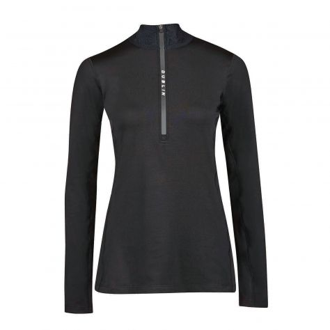 Dublin Black Leslie Half Zip Thermal Top