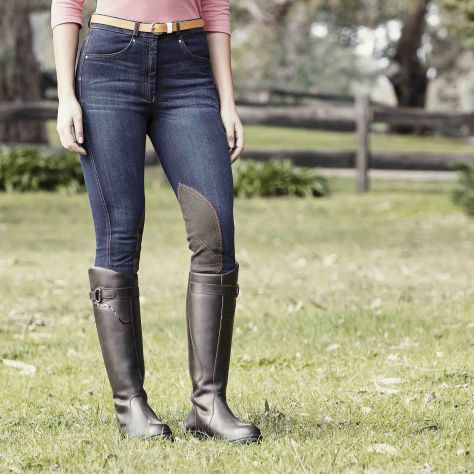 Dublin Shona Knee Patch Denim Breeches