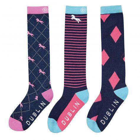 Dublin Rosa 3 Pack Socks