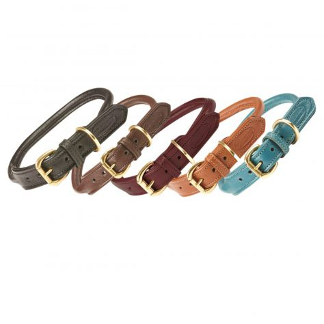 WeatherBeeta Rolled Leather Dog Collar