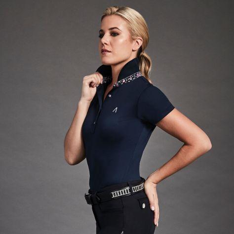 Dublin Black Karina Short Sleeve Technical Polo