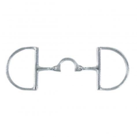 Korsteel Stainless Steel Segunda Dee Ring Snaffle Bit