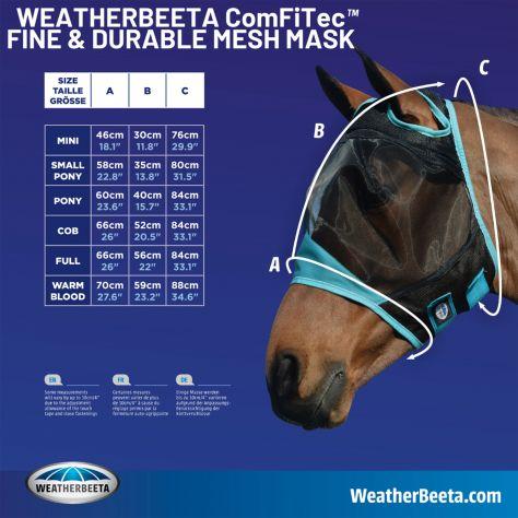 WeatherBeeta ComFiTec Durable Mesh Mask with Nose