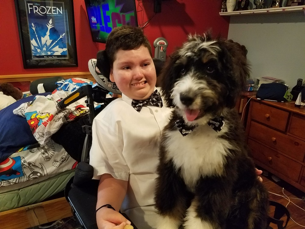 Ray and Bacchus the Service Dog