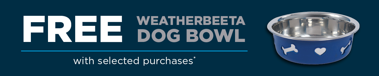 Free Dog Bowl with Select Purchases