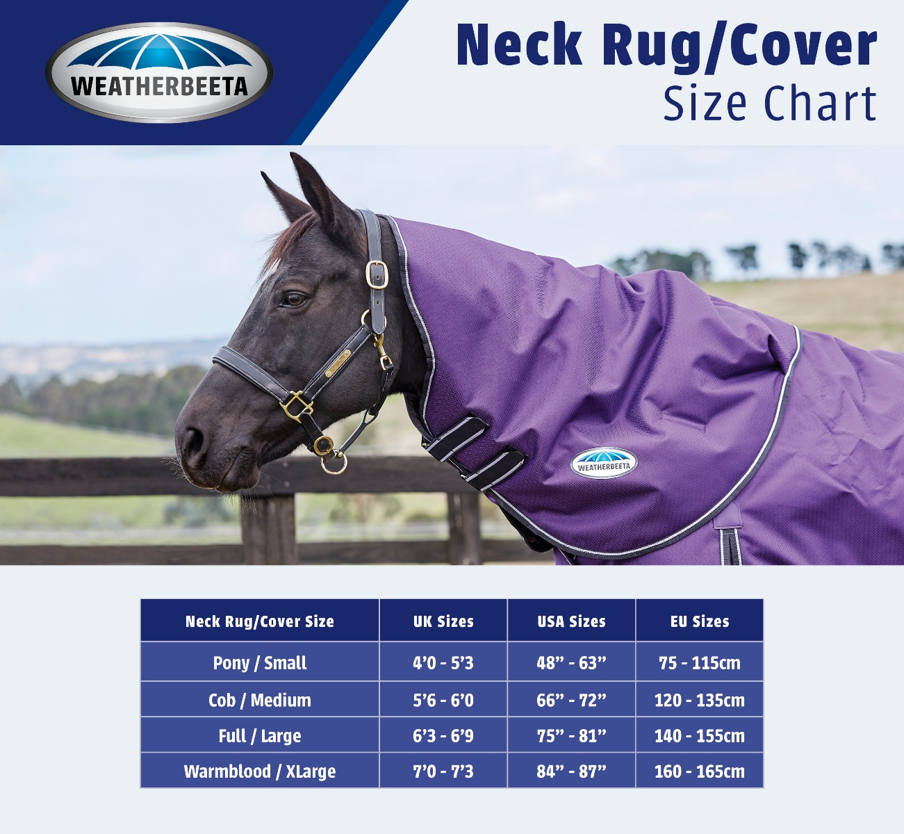 Neck Cover Size Guide