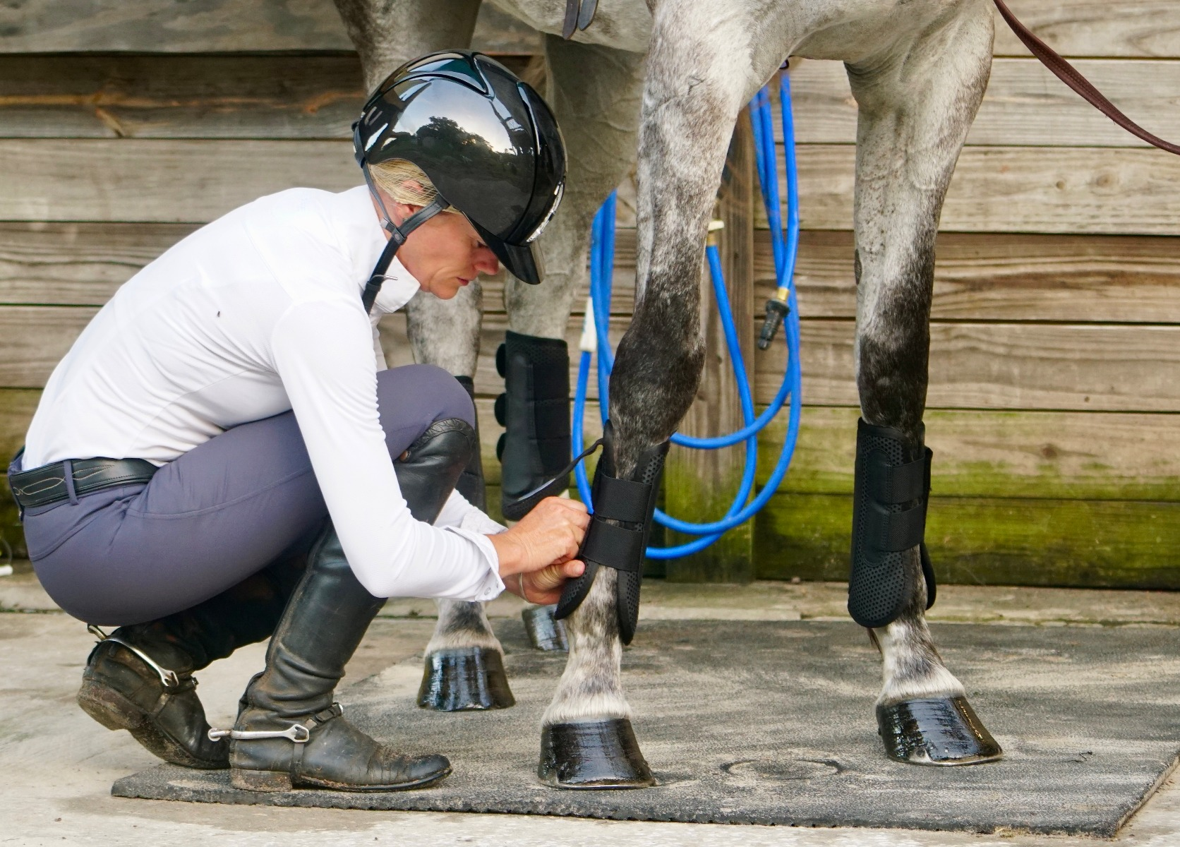 Sinead Halpin and WeatherBeeta Jump Boots